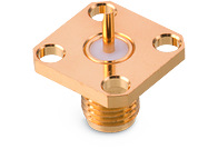 Panel Jack 4-Hole Flange Mount - Panel Jack 4-Hole Flange Mount