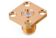 WR-SMA Panel Jack 4-Hole Flange Straight Round Post - WR-SMA Panel Jack 4-Hole Flange Straight Round Post