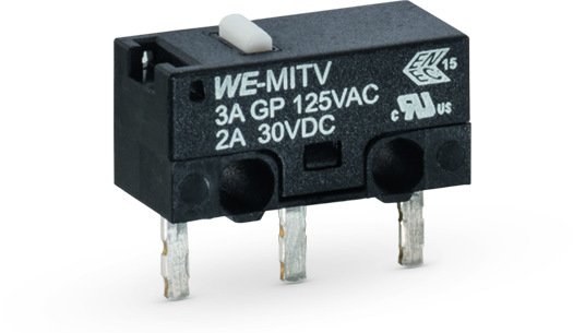 WS-MITV THT Terminal with Actuator, 150 gf Micro Switch Picture