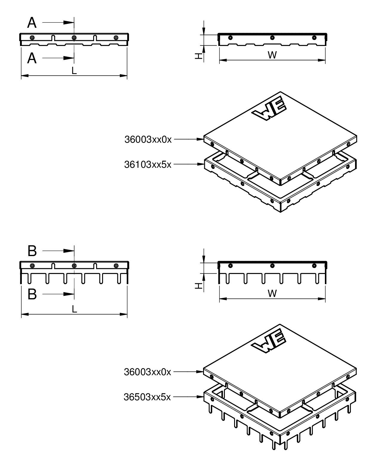 WE-SHC Shielding Cabinet Dimensions