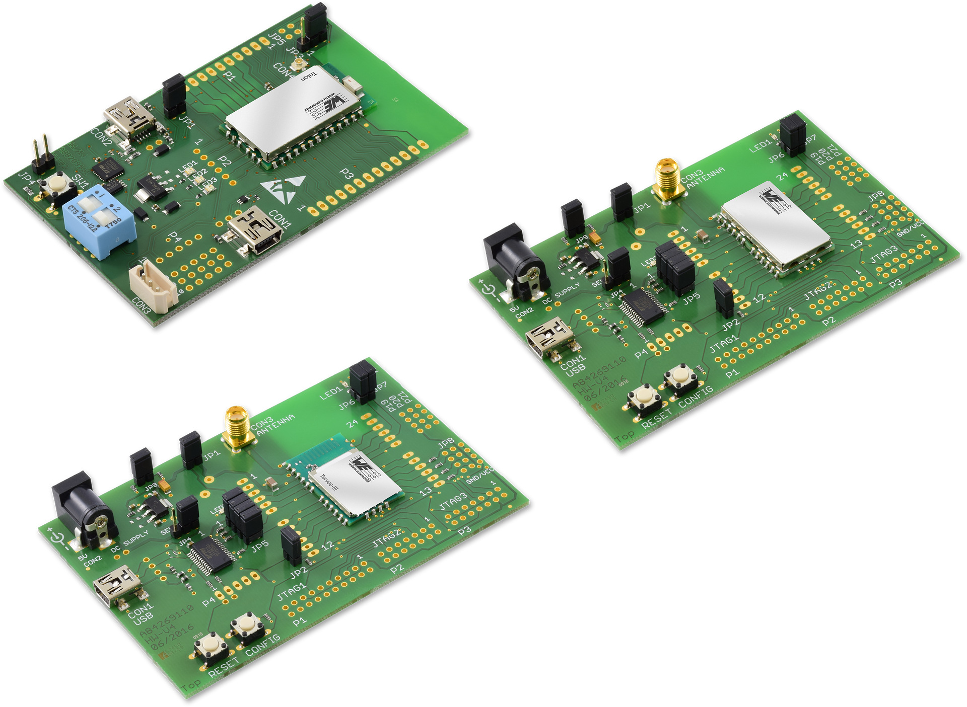 Evaluation-Kits for proprietary modules for internal and external antenna Picture