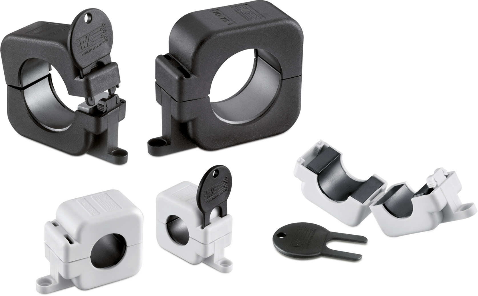 WE-STAR-RING Snap Ferrite with safety key technology Picture