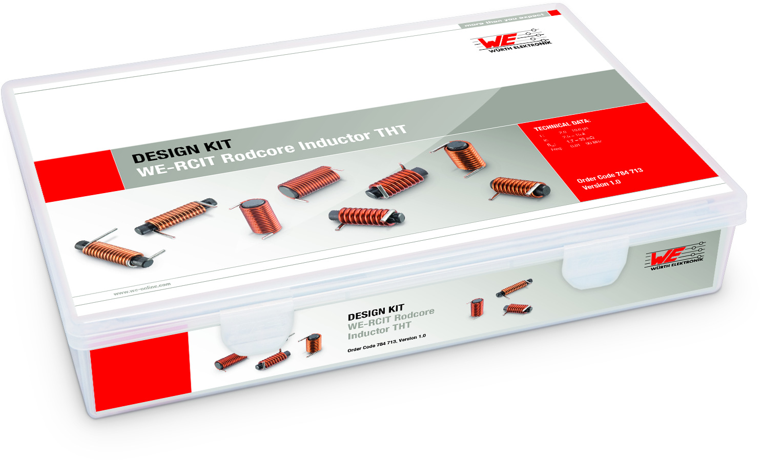 Design Kit WE-RCIT Rodcore Inductor THT Picture