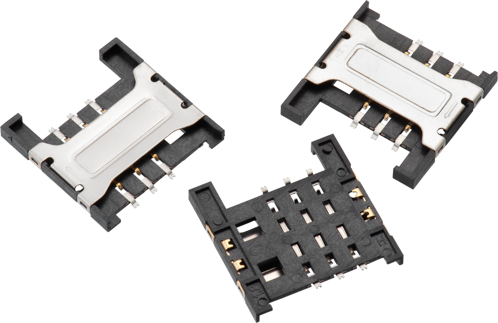 WR-CRD SIM Card Connector  (Mini SIM) Header Shielded - 6 pins Produktbild