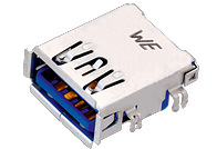 WR-COM USB 3.0 Type A Reverse Horizontal w. Offset 0.14 mm - WR-COM USB 3.0 Type A Reverse Horizontal w. Offset 0.14 mm