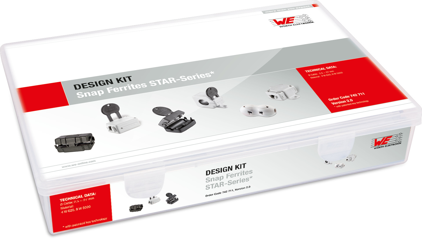 Design Kit WE-Star Klappferrite Produktbild