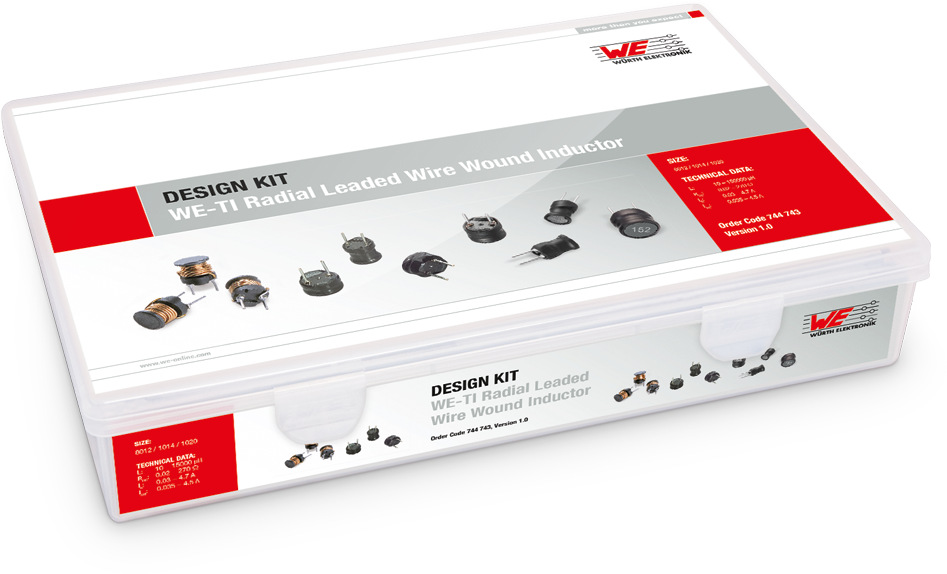 Design Kit WE-TI Radial Leaded Wire Inductor Picture
