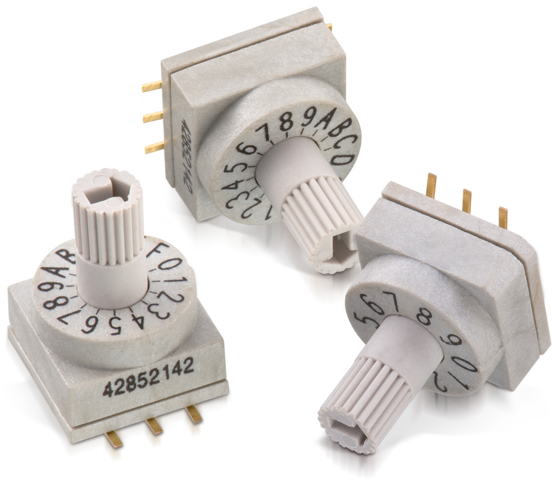 WS-ROSV SMD Rotary Switch with Shaft Type Actuator 10x10 mm Picture