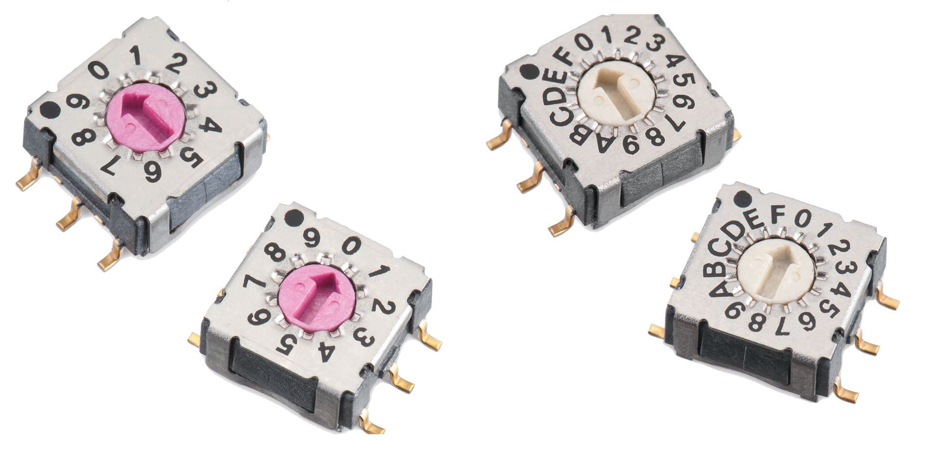 WS-ROSV SMD Rotary Switch 7x7 mm with Arrow Type Actuator Picture