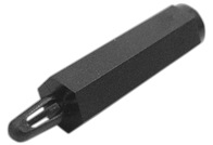 WA-SNTI Plastic Spacer Stud, metric, Thread/ Clip - WA-SNTI Plastic Spacer Stud, metric, Thread/ Clip