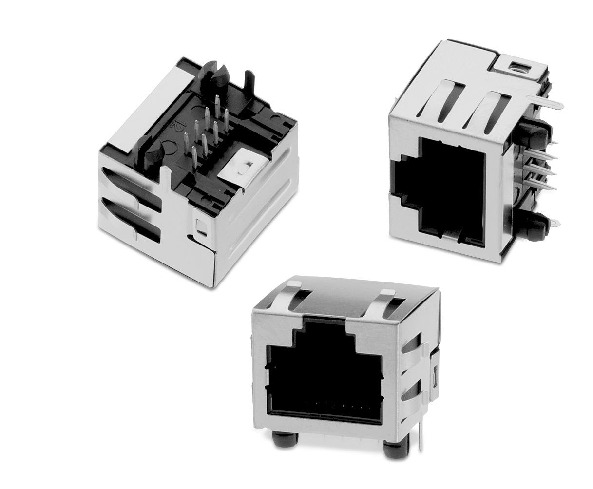 Wr Mj Modular Jack Horizontal Shielded W Emi Panel Finger