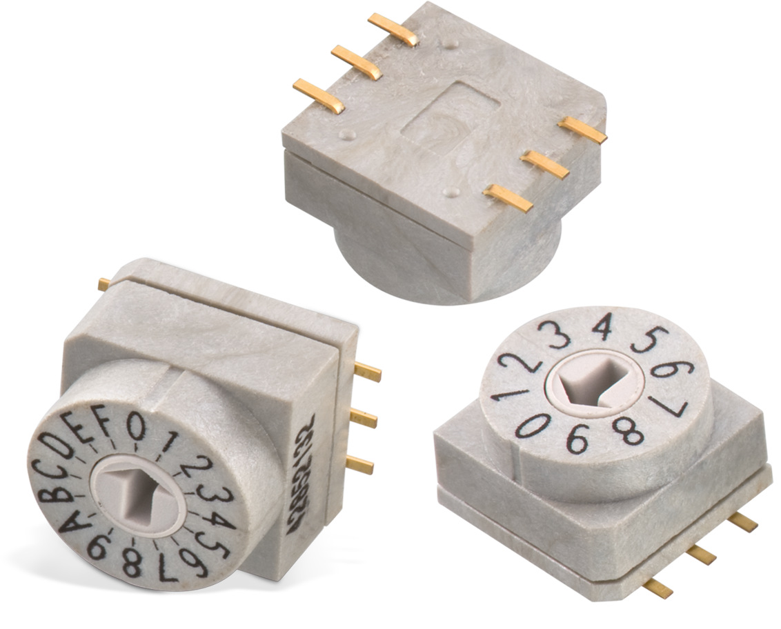 WS-ROSV SMD Rotary Switch with Arrow Type Actuator 10x10 mm Picture