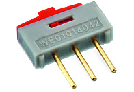 WS-SLTV THT Mini Slide Switch Opposite Side Connection 10x2.5 mm - WS-SLTV THT Mini Slide Switch Opposite Side Connection 10x2.5 mm