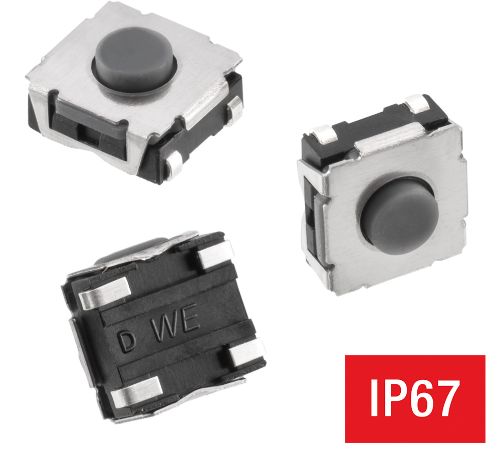 WS-TASV J-Hook SMT Hermetic Tact Switch 6x6 mm Picture