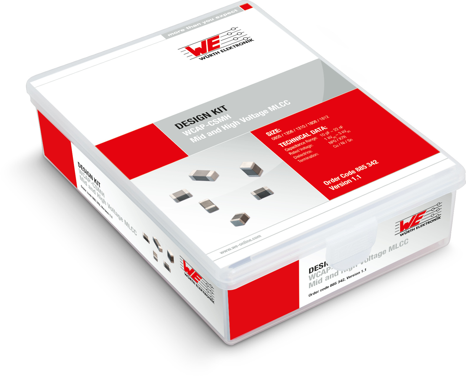 Design Kit WCAP-CSMH Mid and High Voltage MLC Produktbild