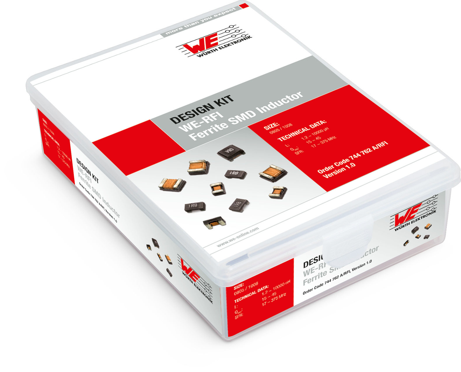 Design Kit WE-RFI Ferrite SMD Inductor - 0805/1008A Produktbild