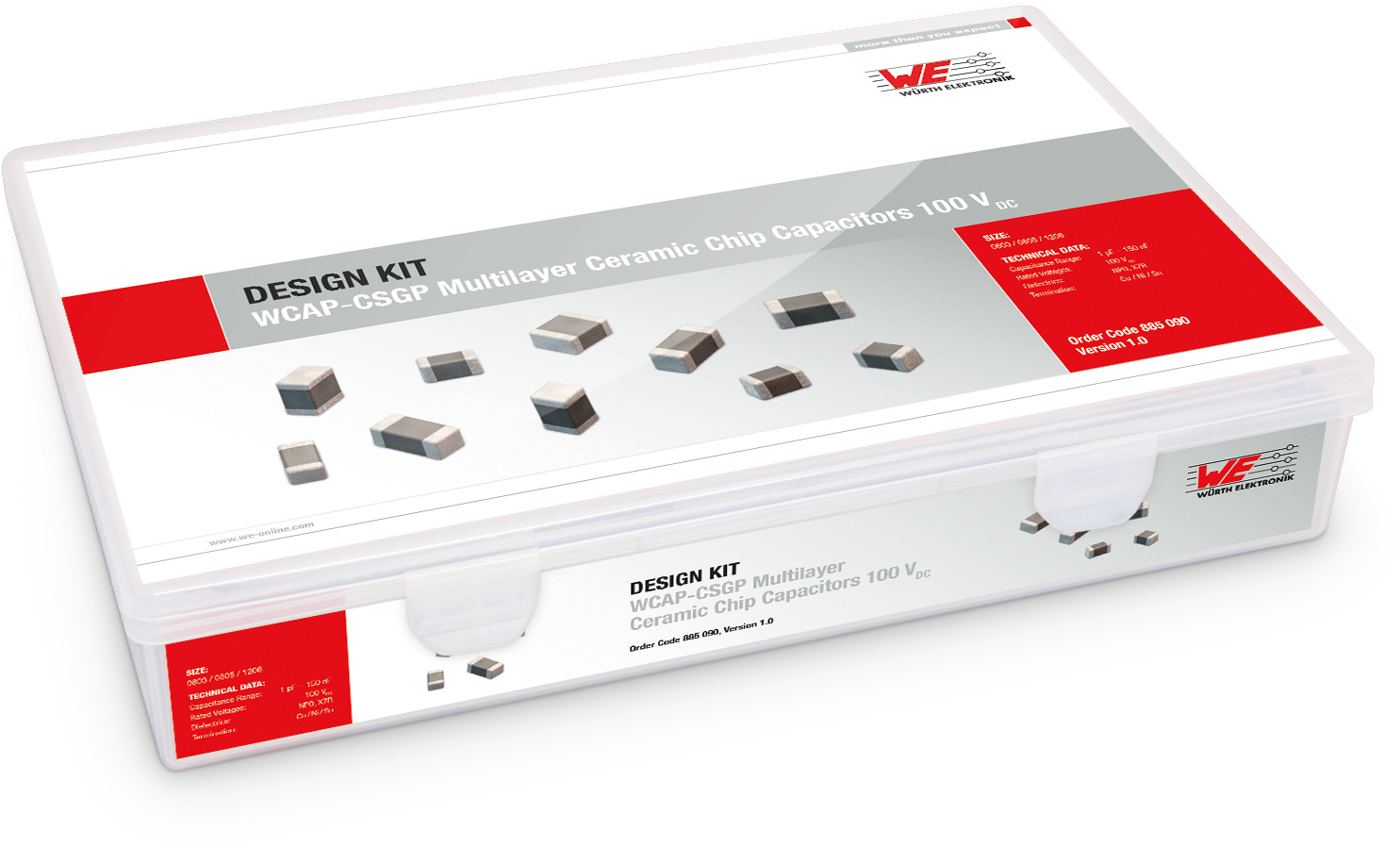 Design Kit WCAP-CSGP Multi-Layer Ceramic Chip Capacitors 100 V Picture